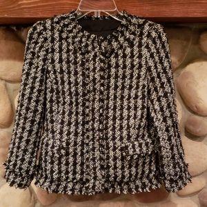 Ann Taylor tweed blazer, sz 0